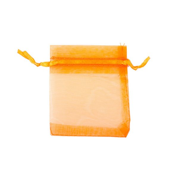 Tasak, tüll, kb. 7x9 cm, narancssárga