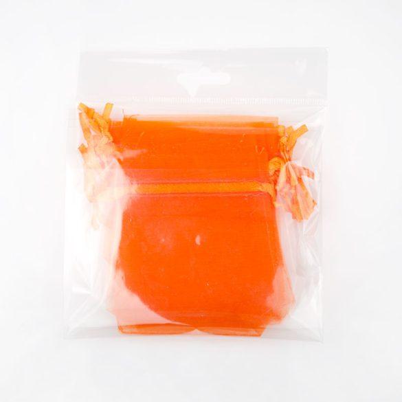 Tasak, tüll, kb. 7x9 cm, világos narancssárga (10 db)