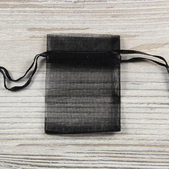 Tasak, tüll, kb. 5x7 cm, fekete