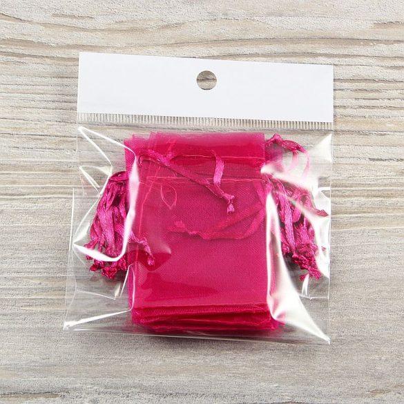 Tasak, tüll, kb. 5x7 cm, pink (10 db)