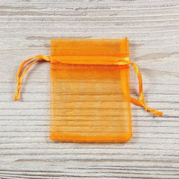 Tasak, tüll, kb. 5x7 cm, narancssárga