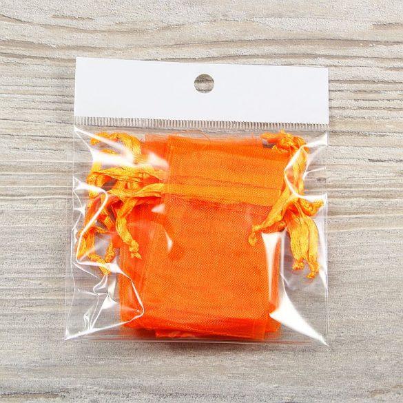 Tasak, tüll, kb. 5x7 cm, narancssárga (10 db)