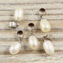Tenyésztett gyöngy csepp medál, kb. 8-9 mm
