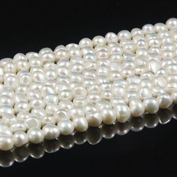 Barokk, fehér alapanyagszál, 7,5-8,5 mm, kb. 40 cm