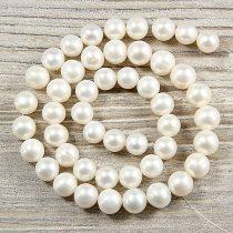 Potátó, fehér tenyésztett gyöngy alapanyagszál, 9-10 mm, kb. 40 cm (AA)