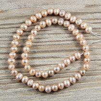 Potátó, lila tenyésztett gyöngy alapanyagszál, 5-6 mm, kb. 40 cm