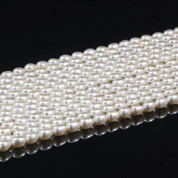 Rizsszemű, fehér alapanyagszál, 5-5,5 mm, kb. 40 cm (AA)
