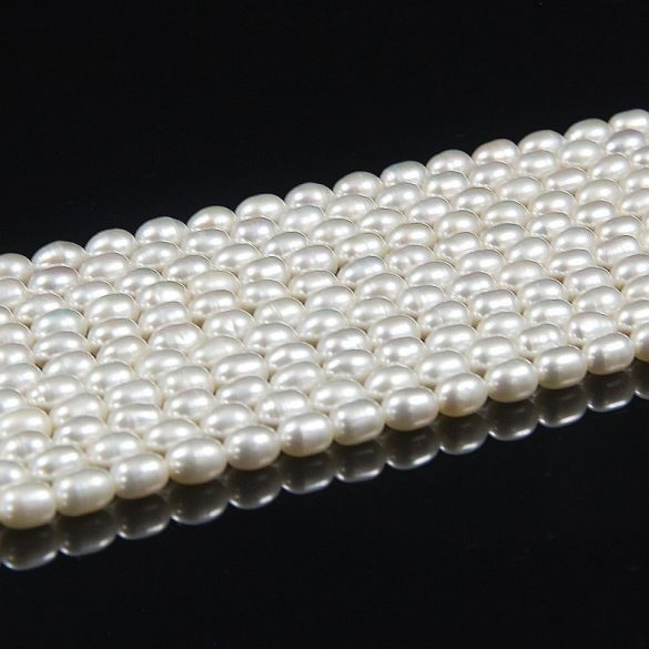 Rizsszemű, fehér alapanyagszál, 5,5-6 mm, kb. 40 cm (AA)