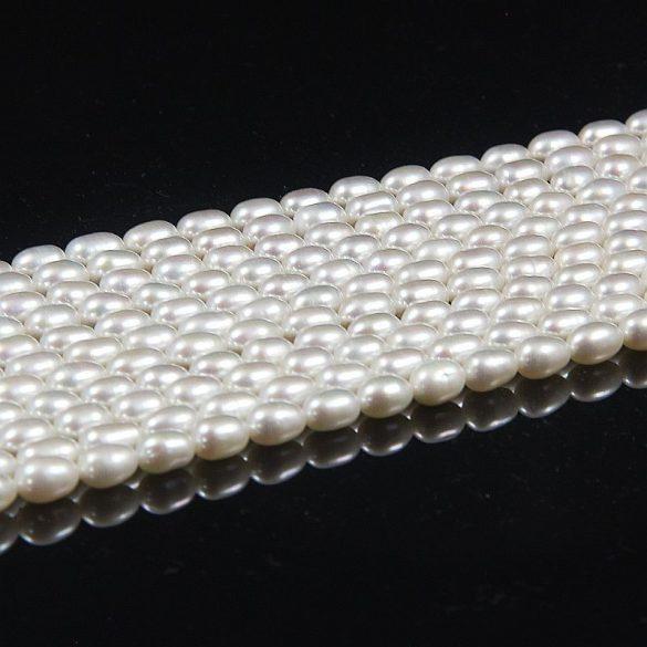 Rizsszemű, fehér alapanyagszál, 5-6 mm, kb. 40 cm (AA)