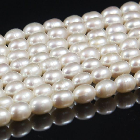 Rizsszemű, fehér alapanyagszál, 6,5-7 mm, kb. 40 cm (AA)