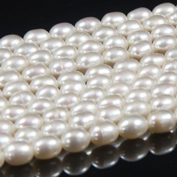 Rizsszemű, fehér alapanyagszál, 6-6,5 mm, kb. 40 cm (AA)