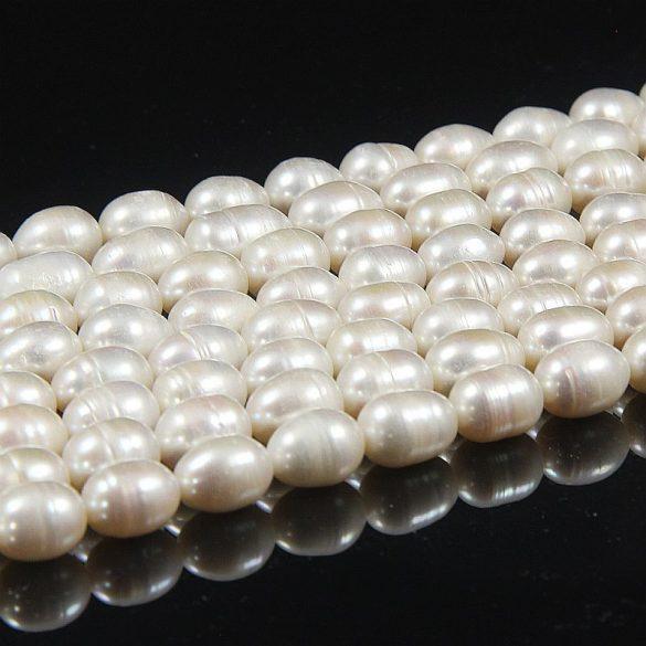 Rizsszemű, fehér alapanyagszál, 9,5-10,5 mm, kb. 40 cm