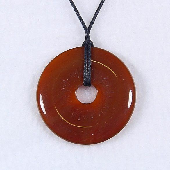 Donut medál, karneol, 40 mm