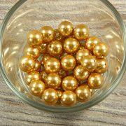 Shell pearl világosbarna golyó, 10 mm