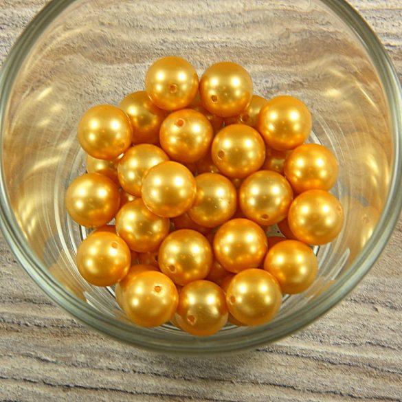 Shell pearl sötétsárga golyó, 10 mm