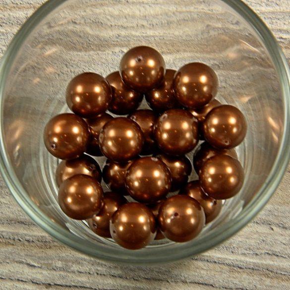 Shell pearl sötétbarna golyó, 12 mm