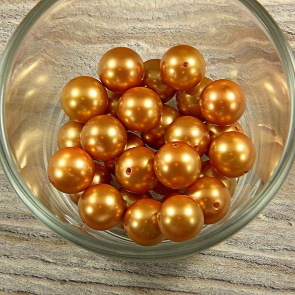 Shell pearl világosbarna golyó, 12 mm
