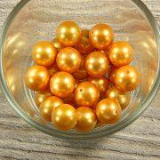 Shell pearl sötétsárga golyó, 12 mm
