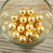 Shell pearl világossárga golyó, 12 mm