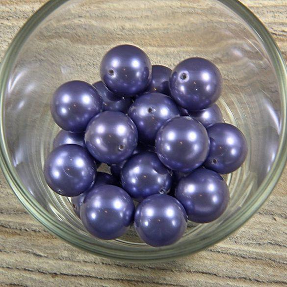Shell pearl szürkéskék golyó, 14 mm