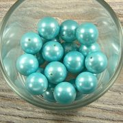 Shell pearl világoskék golyó, 14 mm