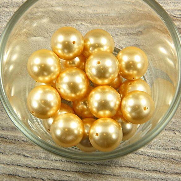 Shell pearl világossárga golyó, 14 mm