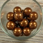 Shell pearl sötétbarna golyó, 16 mm