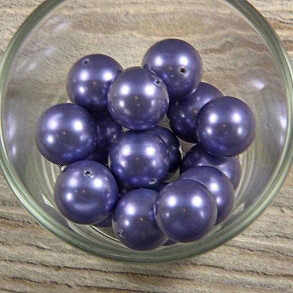 Shell pearl szürkéskék golyó, 16 mm