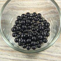 Shell pearl fekete golyó, 6 mm
