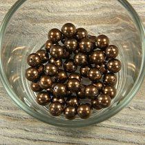 Shell pearl csokibarna golyó, 8 mm
