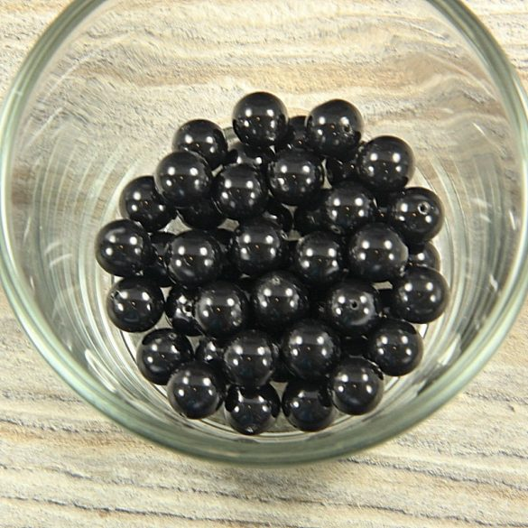 Shell pearl fekete golyós, 8 mm
