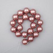 Shell pearl alapanyagszál, mályva, golyós, 10 mm