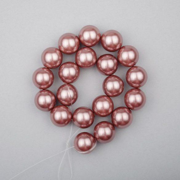 Shell pearl alapanyagszál, mályva, golyós, 10 mm, 19 cm