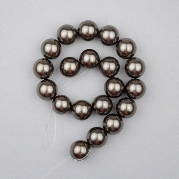 Shell pearl alapanyagszál, barnásszürke, golyós, 10 mm