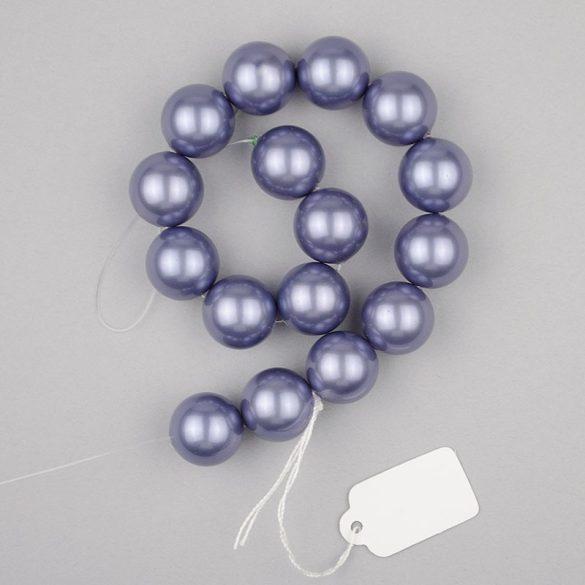 Shell pearl alapanyagszál, szürkéskék, golyós, 12 mm