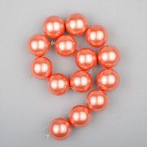 Shell pearl alapanyagszál, hússzínű, golyós, 14 mm, 19 cm