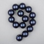 Shell pearl alapanyagszál, sötétkék, golyós, 14 mm