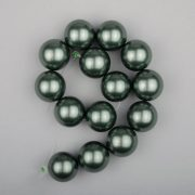 Shell pearl alapanyagszál, olajzöld, golyós, 14 mm