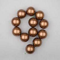 Shell pearl alapanyagszál, sötétbarna, golyós, 16 mm, 19 cm