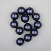 Shell pearl alapanyagszál, sötétkék, golyós, 16 mm