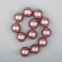 Shell pearl alapanyagszál, mályva, golyós, 16 mm, 19 cm