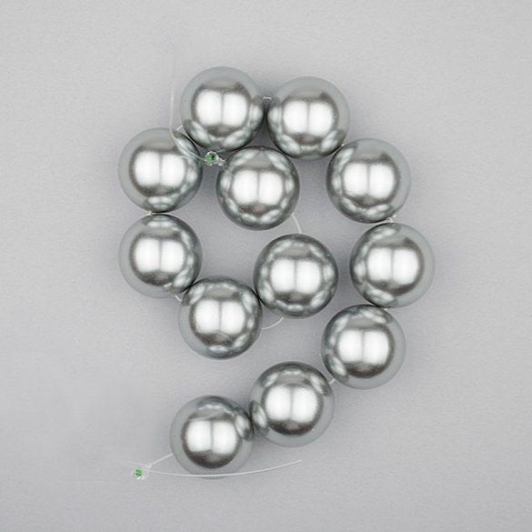 Shell pearl alapanyagszál, szürke, golyós, 16 mm