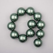 Shell pearl alapanyagszál, olajzöld, golyós, 16 mm
